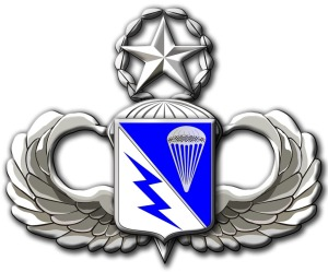 The unit crest of the 1-507th PIR.