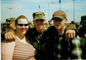 Me with Melissa & Mike after having earned my basic airborne wings.