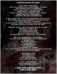 The Infantryman's Creed